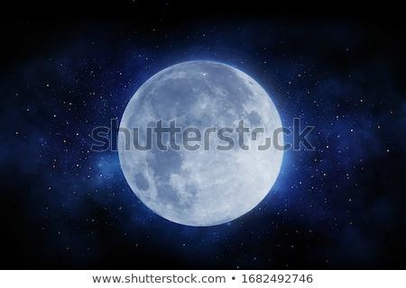 Terra planeta lua profundo espaço brilhante Foto stock © evgeny89