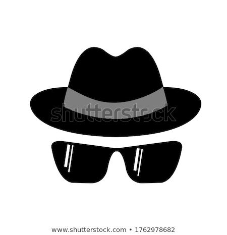 man · glas · hand · bril · achtergrond - stockfoto © chocolatehouse