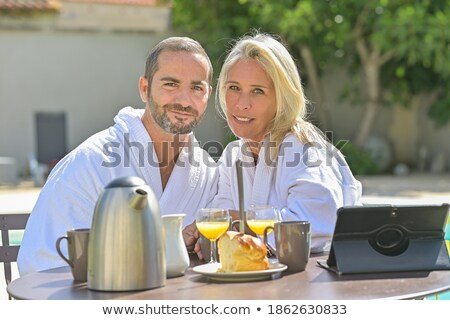 Portrait of a couple in their bathrobes Stock photo © photography33