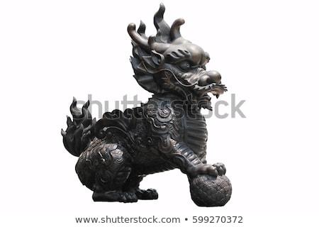chinês · leão · estátua · viajar · arquitetura · poder - foto stock © bbbar