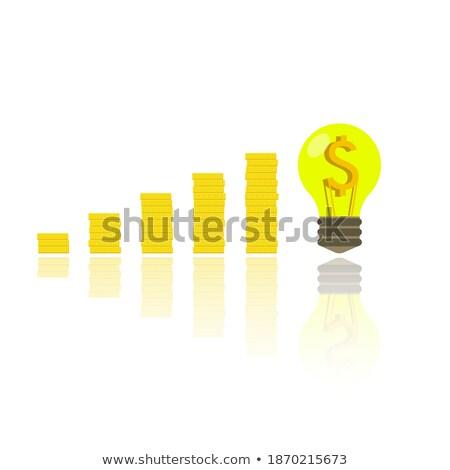 dollár · színpad · színpadi · rajzolt · iskolatábla · üzlet - stock fotó © vichie81