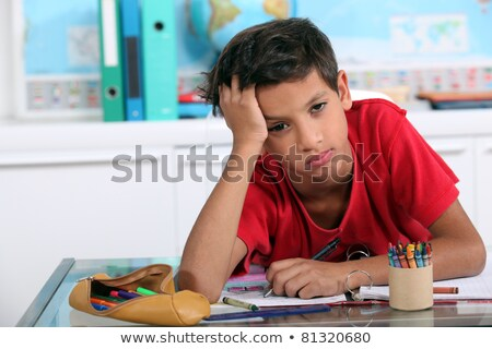 Little boy bored in art class Stock photo © photography33