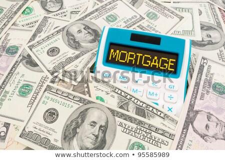 Hypothèque mot note simulateur affaires Photo stock © Ansonstock