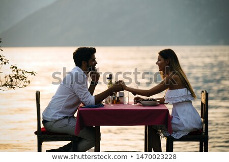 Couple sharing a romantic evening together Stock photo © photography33