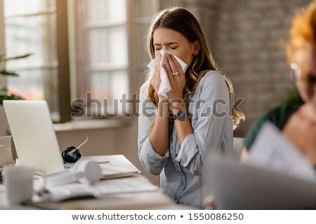 Businesswoman sneezing Stock photo © photography33
