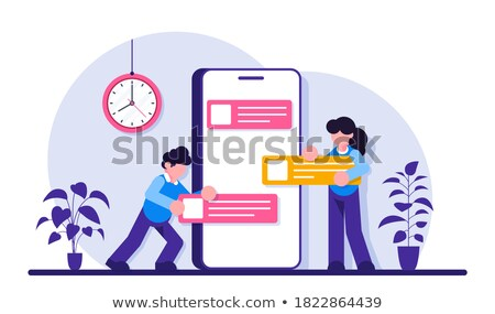 Business Background with Moden Smartphone stock photo © WaD