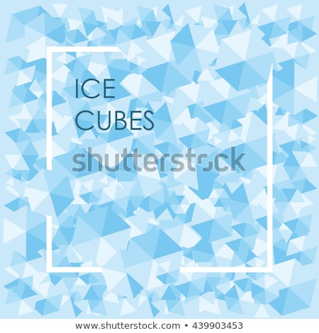 square cool ice background in blue with copyspace Stock photo © ozaiachin
