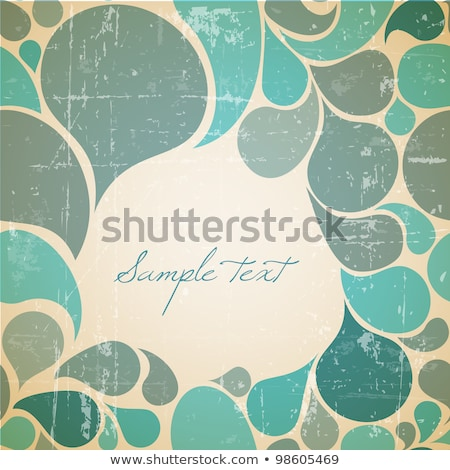 Vector water abstract retro background Stock photo © orson