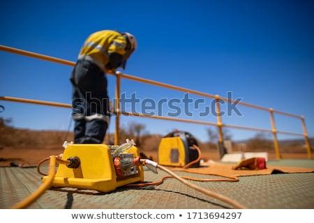 Elektryk polu technologii mężczyzn Zdjęcia stock © photography33