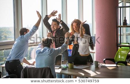 Trabalhando equipe negócio sorrir festa Foto stock © ambro