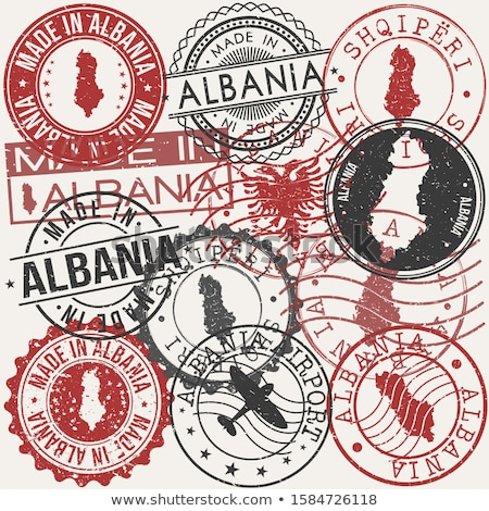 térkép · Albánia · politikai · néhány · absztrakt · világ - stock fotó © perysty