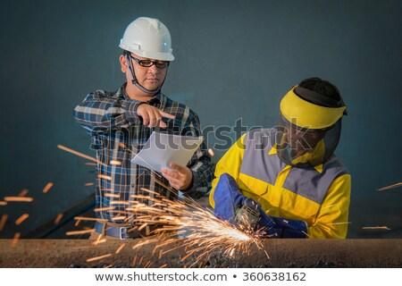 руководитель металл магазин рабочих Сток-фото © lisafx
