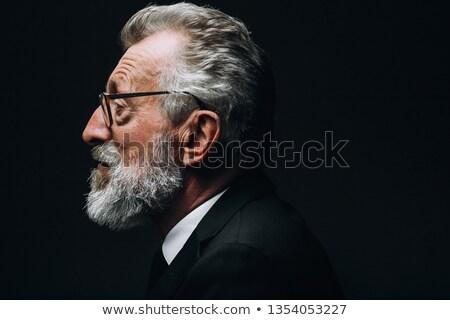 Oude man profiel expressionistische stijl afbeelding sjaal Stockfoto © xochicalco
