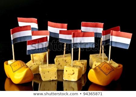 Hollanda peynir ahşap plaka gıda parti Stok fotoğraf © compuinfoto