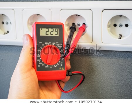 an electrician using an ammeter Stock photo © photography33