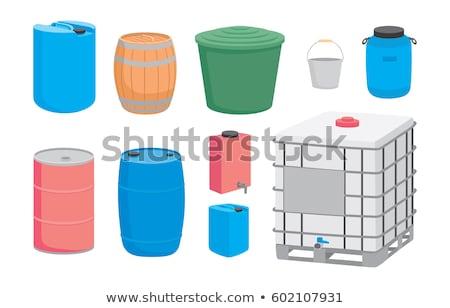 контейнера гальванизированный ковша воды растений Сток-фото © cboswell