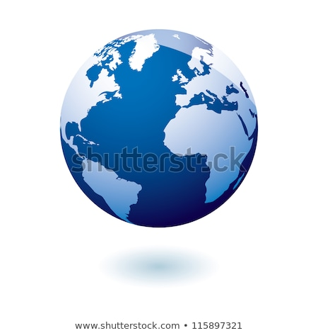 Azul icono tierra gel simple moderna Foto stock © nicemonkey