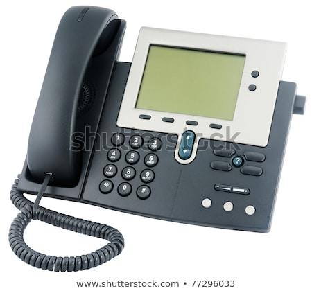 オフィス ip 電話 セット 液晶 表示 ストックフォト © ozaiachin