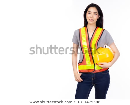 Confident laborer on white background Stock photo © photography33