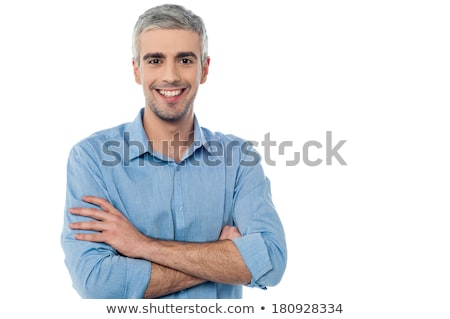 Calm and relaxed middle age man posing casually stock photo © stockyimages
