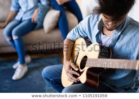 rock'çı · elektrogitar · güzel · kadın · müzik - stok fotoğraf © photography33