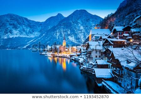 mountain lake at winter dusk Stock photo © PixelsAway