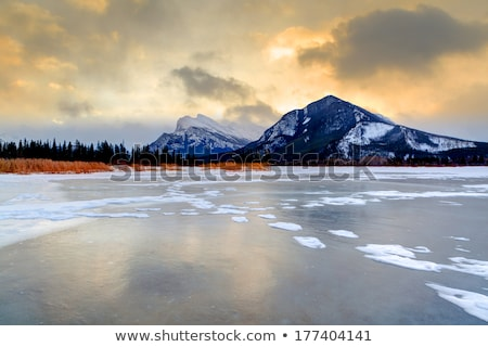mount rundle and vermillion lakes stock photo © pictureguy