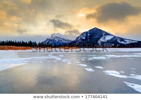 lago · Canadá · parque · água · neve · árvores - foto stock © pictureguy