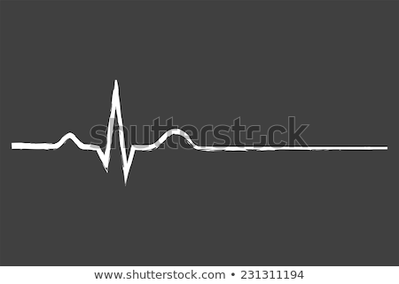 heart beat on chalkboard Stock photo © stevanovicigor