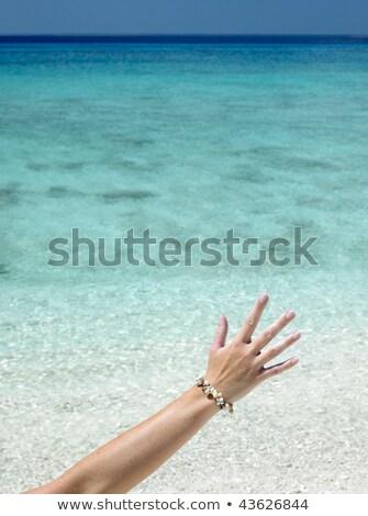 Main shell bracelet la plage Rio Photo stock © phbcz