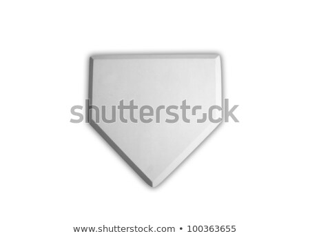 baseball home plate base isolated on white stock photo © ozaiachin