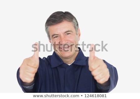 Retrato guapo mecánico blanco sonrisa Foto stock © wavebreak_media