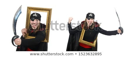 Young woman in pirate suit with sabre Stock photo © pzaxe
