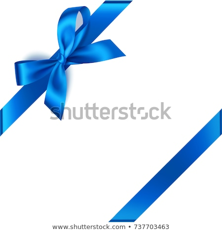 blue ribbon bow stock photo © maisicon