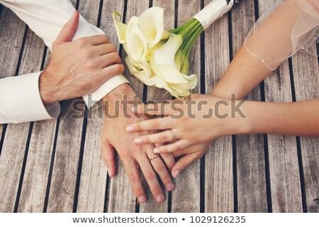 Bruid bruidegom top tabel decoratie Stockfoto © KMWPhotography