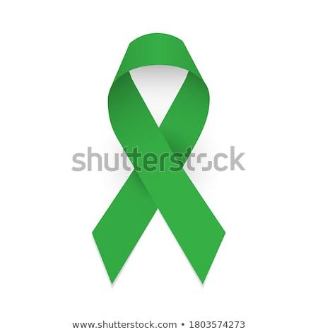 Green awareness ribbon Stock photo © wavebreak_media