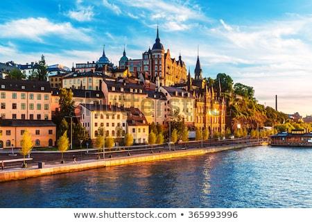 Стокгольм мнение старые город Швеция небе Сток-фото © maisicon