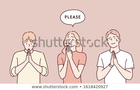 Begging Stock photo © silent47
