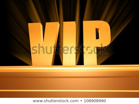 Stock photo: Very Important Person Golden Text With Rays