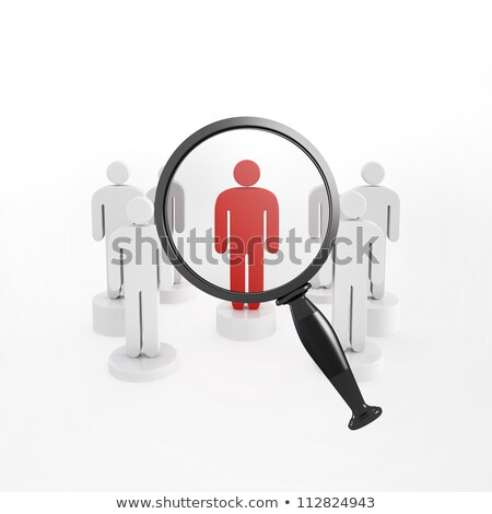 Magnifying Glass Targets One Person Stock photo © iqoncept