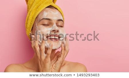 皮膚 清める クローズアップ 画像 女性 綿 ストックフォト © dolgachov