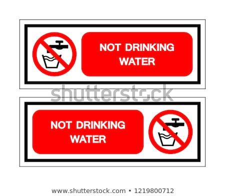 assinar · não · beber · vetor · vidro · vermelho - foto stock © anna_tseliuba