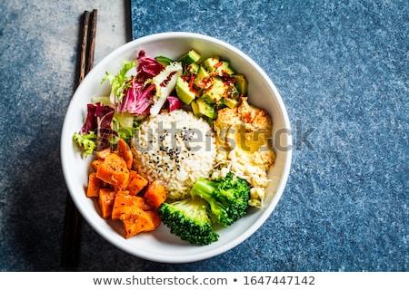 kom · vegetarisch · saladeschaal · salade · voedsel · lunch - stockfoto © M-studio