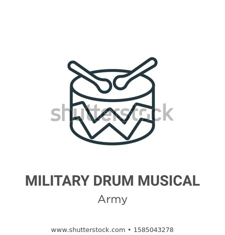Vector icon military band Stock photo © zzve