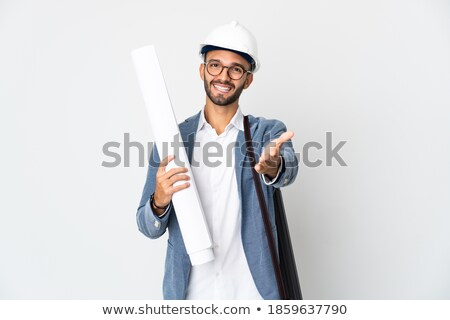 architect holds out his hand for a handshake stock photo © stockyimages