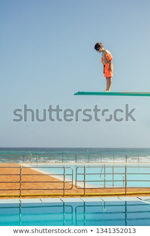 Stock photo: Diving board