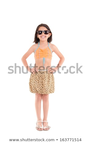 girl in a swimsuit beachwear studio shot stock photo © pxhidalgo