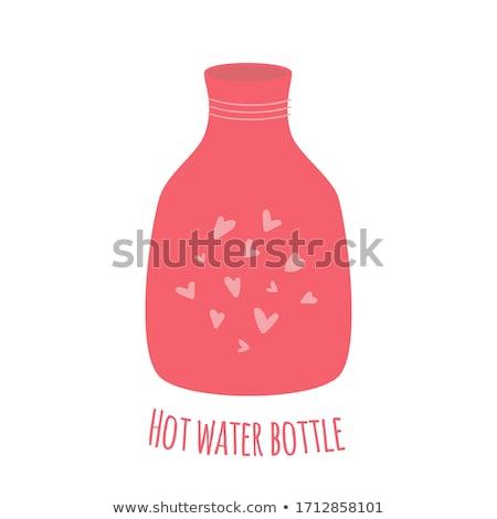 plastic · water · zak · oranje · witte · drinken - stockfoto © koufax73