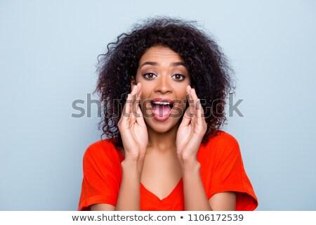 сексуальная · женщина · мегафон · Sexy · красивая · женщина · Бикини - Сток-фото © dash