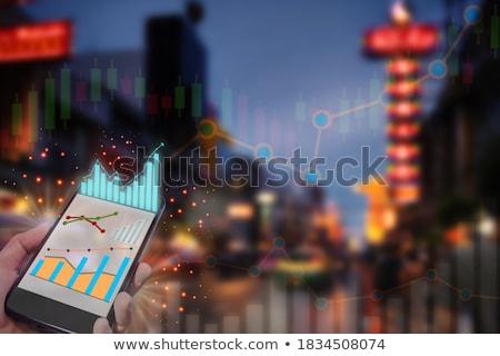 Economisch genezing digitale gouden kleur tekst Stockfoto © tashatuvango
